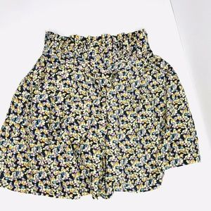 Elizabeth and James Silk Floral Print Skirt